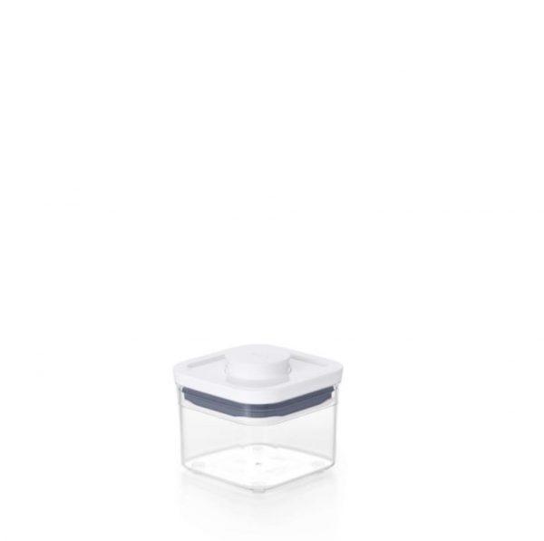 Bote Pop cuadrado estrecho 0,4 litros de OXO
