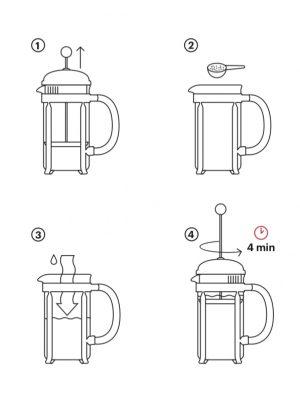 Cafetera Chambord (3 tazas)