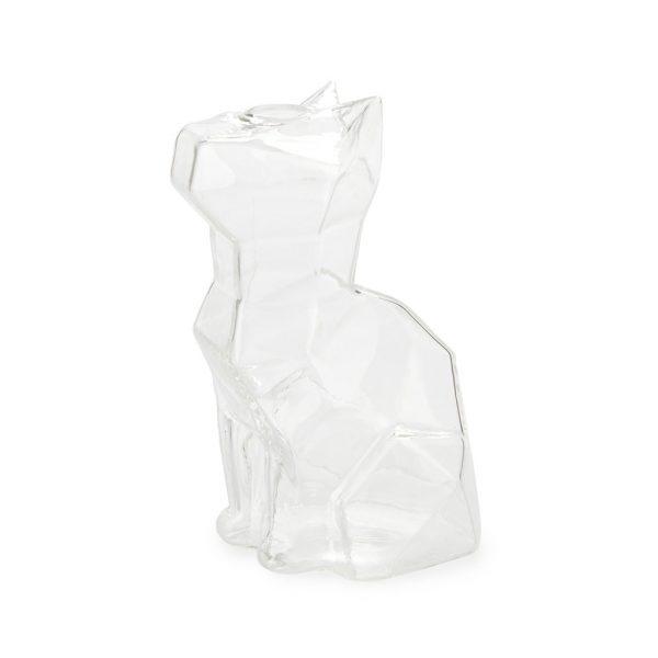 Florero Sphinx gato 15 cm (transparente)