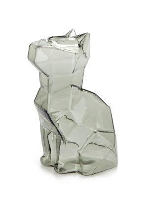 Florero Sphinx gato 15 cm (gris)