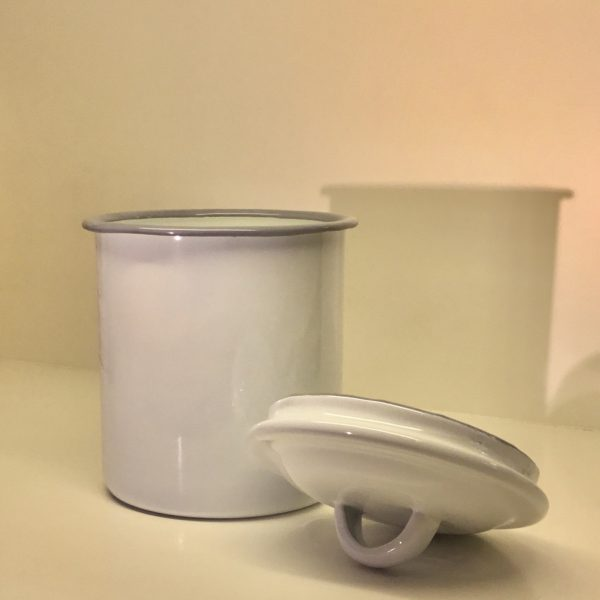 Bote almacenamiento esmaltado 11 cm