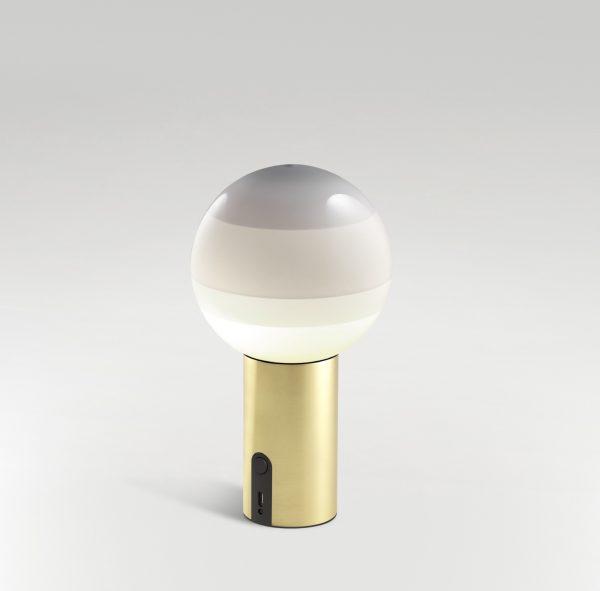 Lámpara Dipping Light portátil (blanca/latón cepillado)