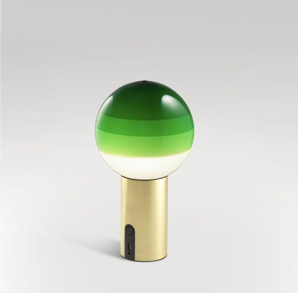Lámpara Dipping portátil (verde/latón cepillado)