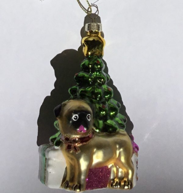 Bajo el árbol de Navidad (cristal)