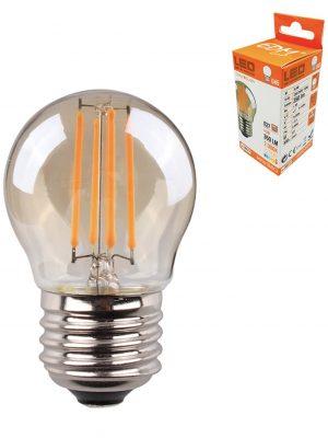 Bombilla esférica con filamento LED E27