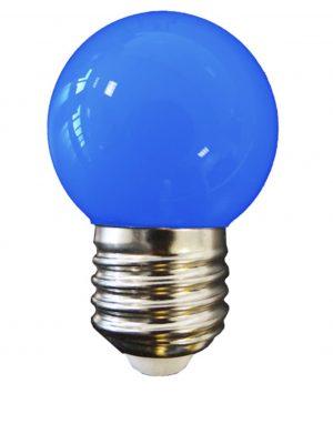 Bombilla esférica LED E27 (azul)