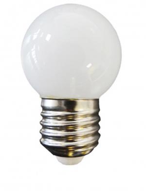 Bombilla esférica LED E27 (blanca)