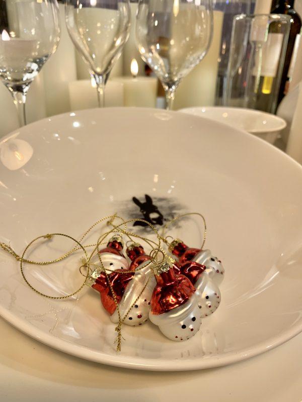 Mini muñeco de nieve Santa (6 unidades/cristal)