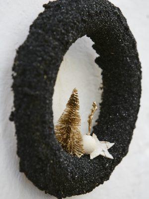 Corona d'arena negra (Ø 25 cm)