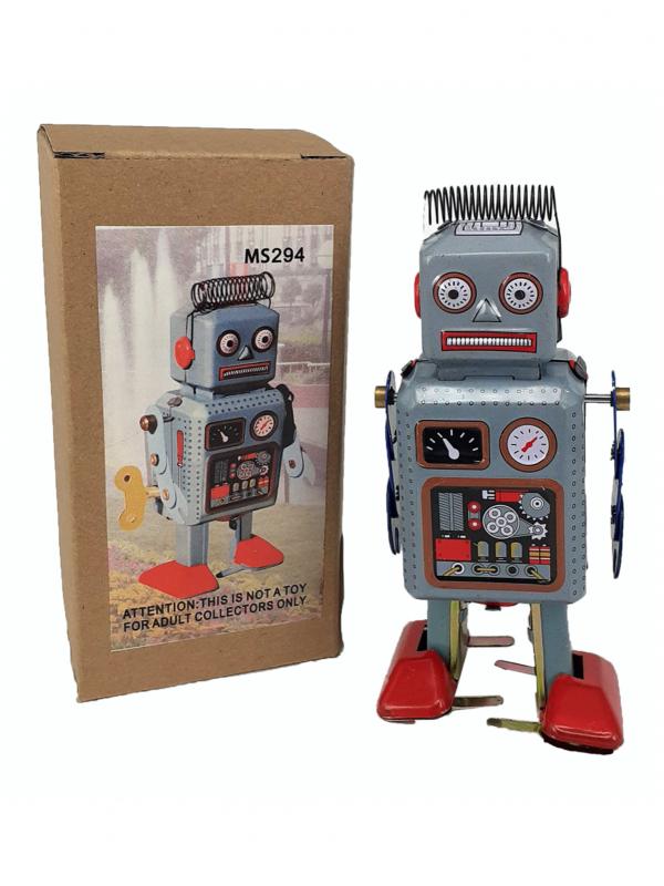 Robot con muelle cabeza