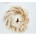 Corona de pampas naturales (Ø 35 cm)