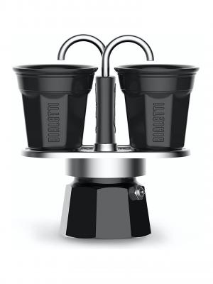 Set miniexpreso de Bialetti (2 tazas – negro)