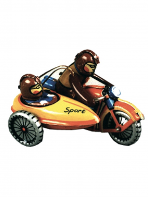 Miniatura moto con sidecar