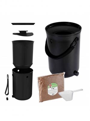 Compostador de cocina Skaza Bokashi Organko - Negro