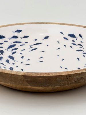 Fuente esmaltada Peces (Ø 45 cm)