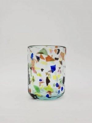 Vaso de Vidrio Terrazzo