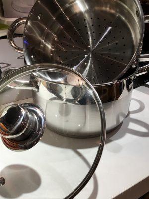 Olla vaporera con tapa de cristal (2,5 L)